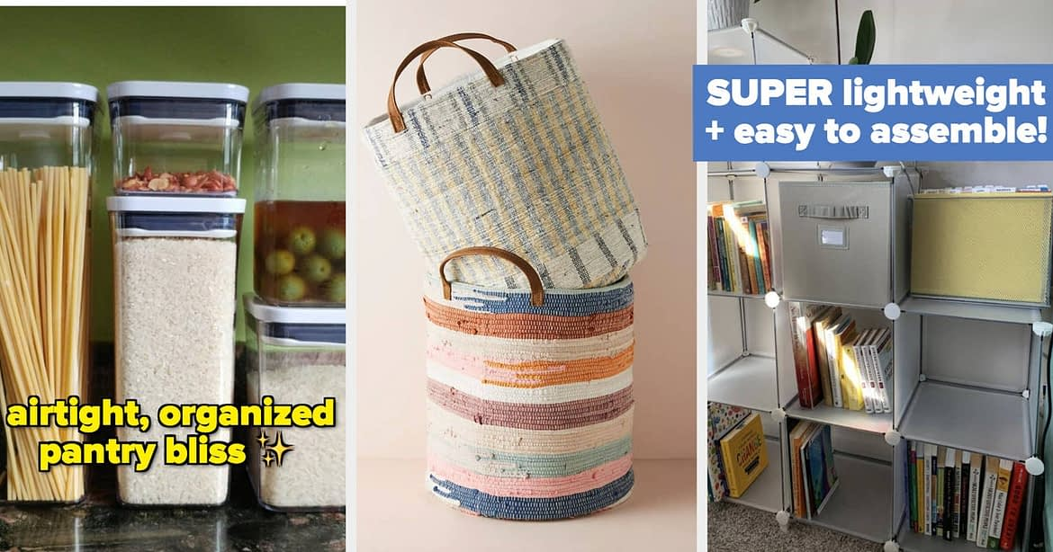 48 Organization Products That Will Finally Whip Your Home Into Shape