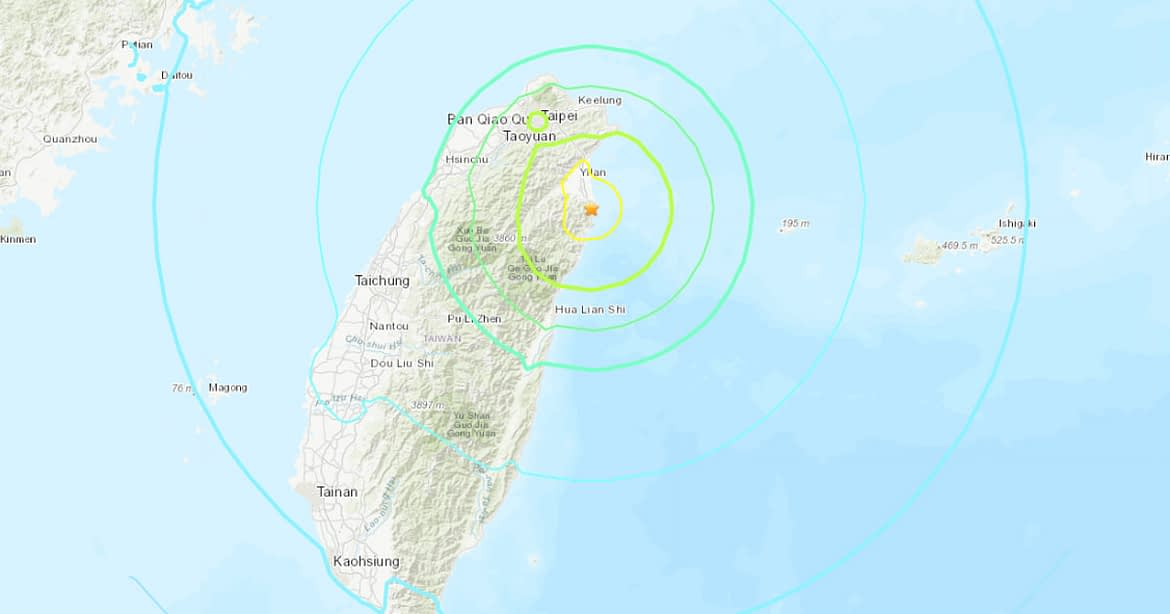 Strong earthquake shakes Taiwan, no damage reported