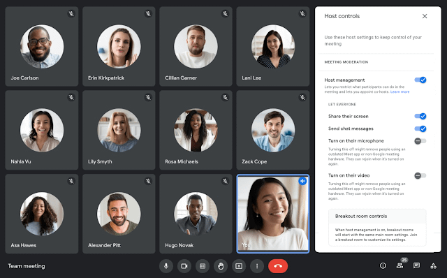 Google Meet rolls out new audio and video locks for hosts